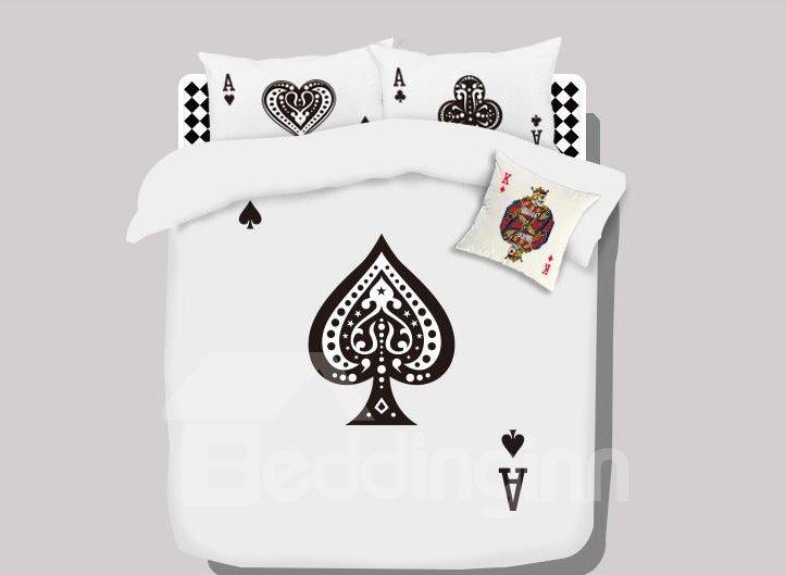 Top Quality Stunning Cartoon Spade A Cotton 4-piece bedding sets