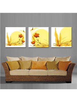 Quality Yellow Flowers Design Film Art Wall Prints