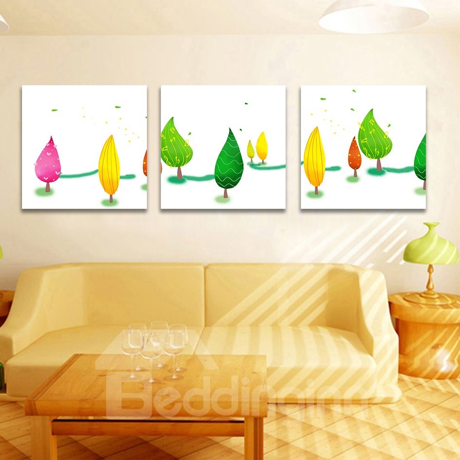Unique Lovely Trees Design Film Art Wall Prints