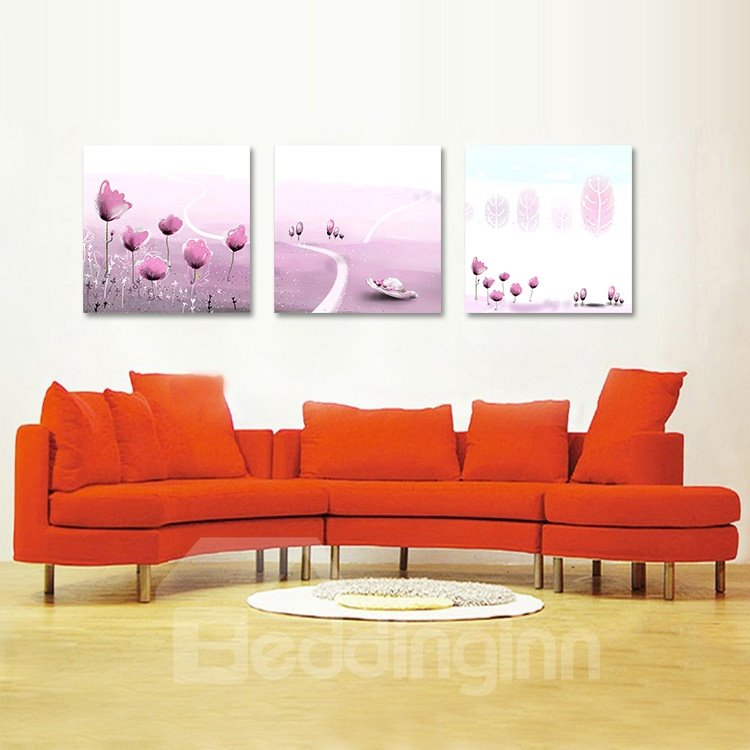 Elegant Fragrant Pink Flowers Film Art Wall Prints