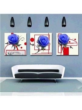 Shiny Blue Roses Style Film Art Wall Prints