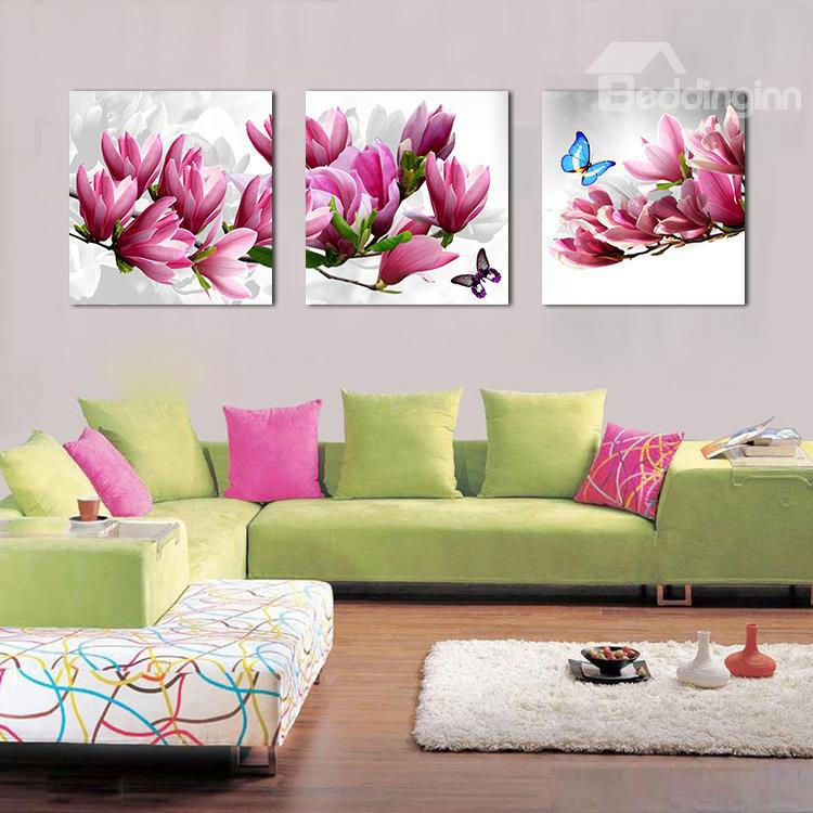 Beautiful Butterflies on Magnolia Film Art Wall Prints