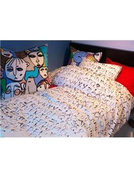 Best Selling Pretty Letter Cotton 3-piece bedding sets