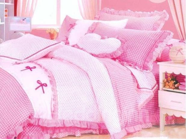 New Arrival Graceful Princess Fringe Cotton 4-piece bedding sets