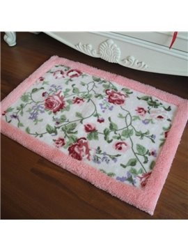 Amazing Beautiful Floral Printing Non-slip Doormat