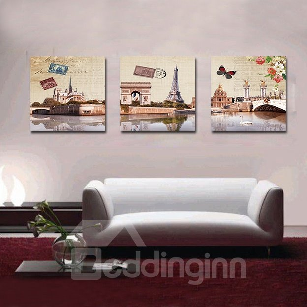 Grand Buildings Beside Lake Film Art Wall Prints