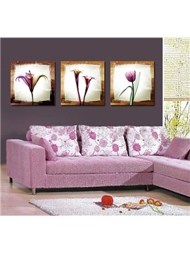 Pretty Elegant Purple Flowers Film Art Wall Prints
