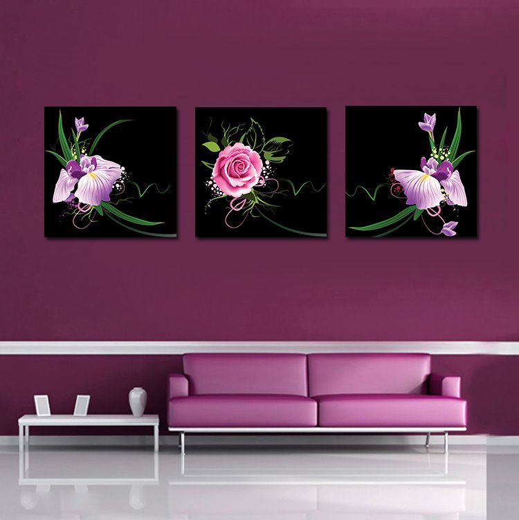 New Arrival Delicate Pretty Flowers Film Art Wall Prints