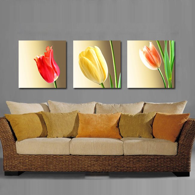 Colorful Elegant Tulips Film Art Wall Prints