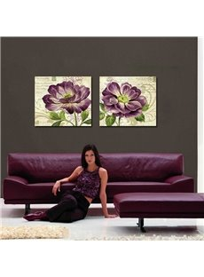 Romantic Purple Floral Print Film Art Wall Prints