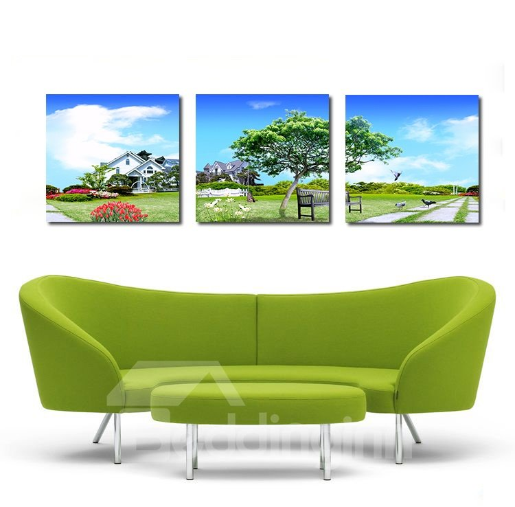 Fancy Cottage and Blue Sky Film Art Wall Prints