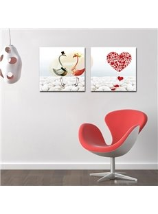 Elegant Swan and Cobblestone Film Art Wall Prints
