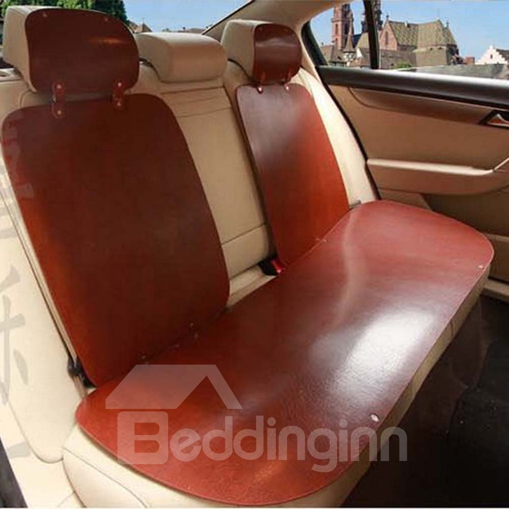 Shabby Chic Pure Color Polish Leather Car Seat Cover