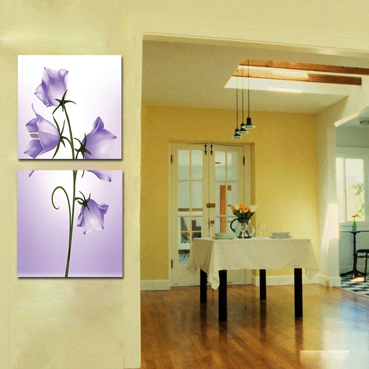 Splendid Pretty Light Purple Flowers Film Art Wall Prints