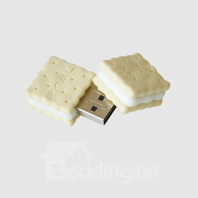 Emulational Ryval Biscuit Shaped Flash Drive USB Stick