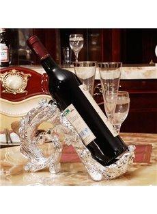 Best Selling Fashion Luxury European Resin Peacock Red Wine Rack