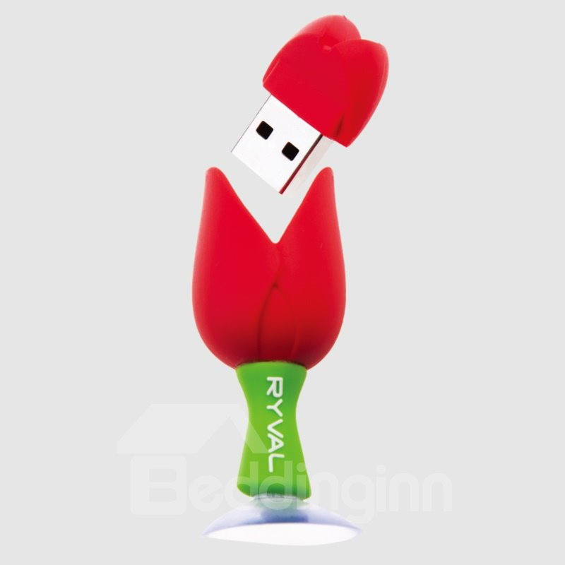 Beautiful Bright Color Tulip Shaped USB Flash Drive