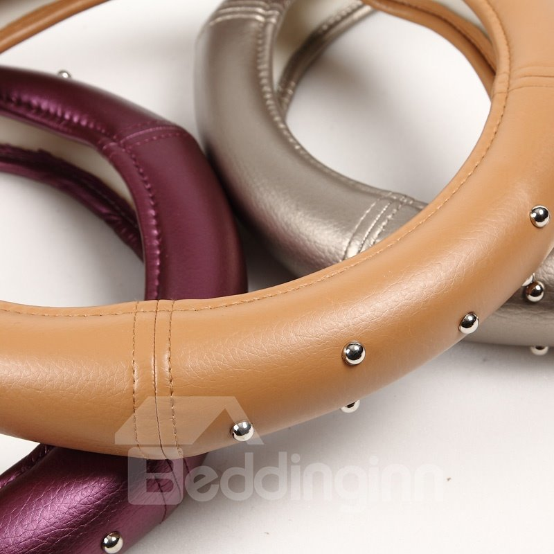 High Quality Leather Material Steering Wheel Cover