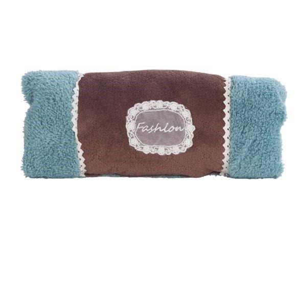 Quality Super Soft Blue Warmer Pillow