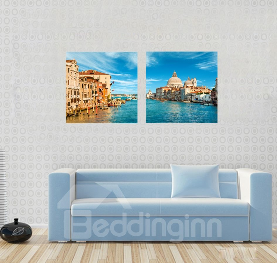 Grand Coastal and Castle Print Fill Art Wall Print