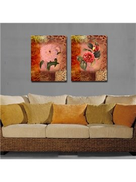 Vivid Pretty Shiny Flowers Film Art Wall Print