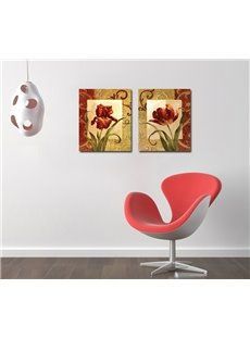Vivid Charming Flowers Film Art Wall Print