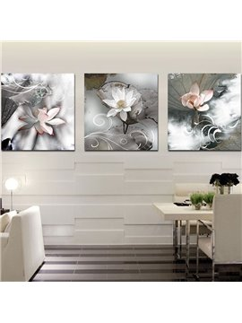 Delicate Vivid Lotus Film Art Wall Print