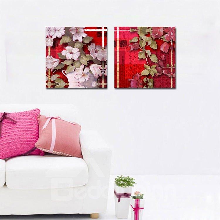 Blooming Vivid Flowers Film Art Wall Print