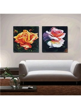 Elegant Roses Blossom Print Film Art Wall Print