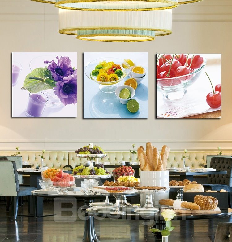 Cherry Lemon and Beautiful Flower Film Art Wall Print
