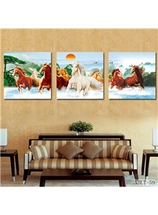 Prancing Horses and Fancy Sunrise Film Art Custom Poster Frames