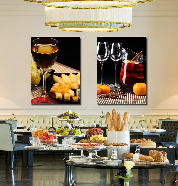 Fancy Wine and Fresh Fruit Film Art Wall Print