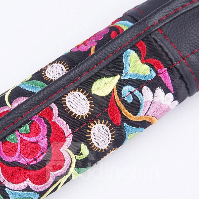 Creative National Cross-Stitch and Leather Shoulder Pad Car Seat Belt Cover