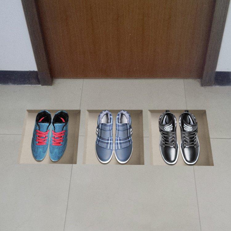 Amazing 3D Men Shoes Pattern Stickers