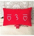 Quality Fancy Creative Cute Plush Red Two-piece Bed Pillow