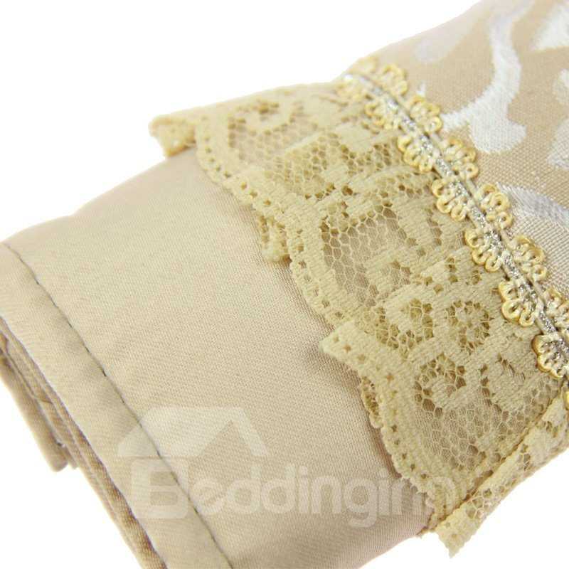 Classic Beige With Lace Luxury Car Seat Belt Cover