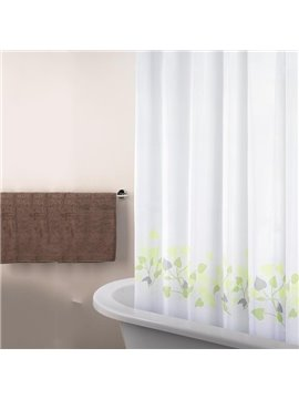 New Arrival Fabulous Pretty Leaves Printing Shower Curtain