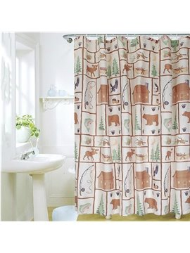 New Arrival Fabulous Cute Cartoon Design Shower Curtain