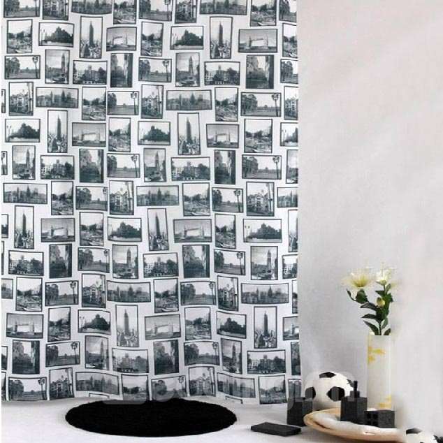 High Quality Modern Fashion British Style Shower Curtain
