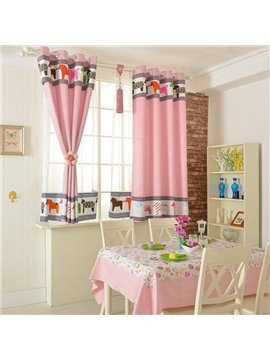 Amazing Beautiful Patterns Grommet Top Two-piece Custom Curtains
