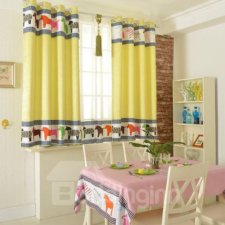 Amazing Fancy Patterns Grommet Top Two-piece Custom Curtains