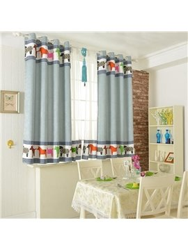 Amazing Eelegant Patterns Grommet Top Two-piece Custom Curtains