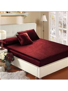 Quality Flannel Solid Color Super Soft Fitted Sheet