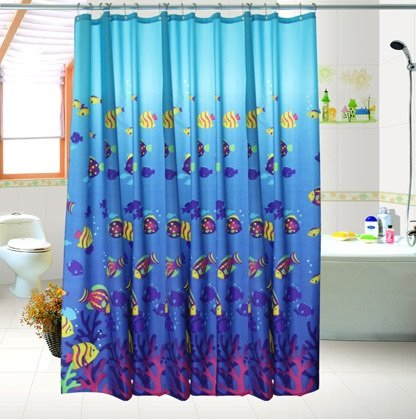 New Arrival Blue Ocean Scene Printing Shower Curtain