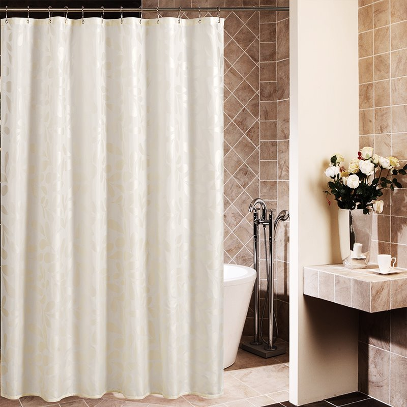 High Quality Concise Leaves Design Shower Curtain