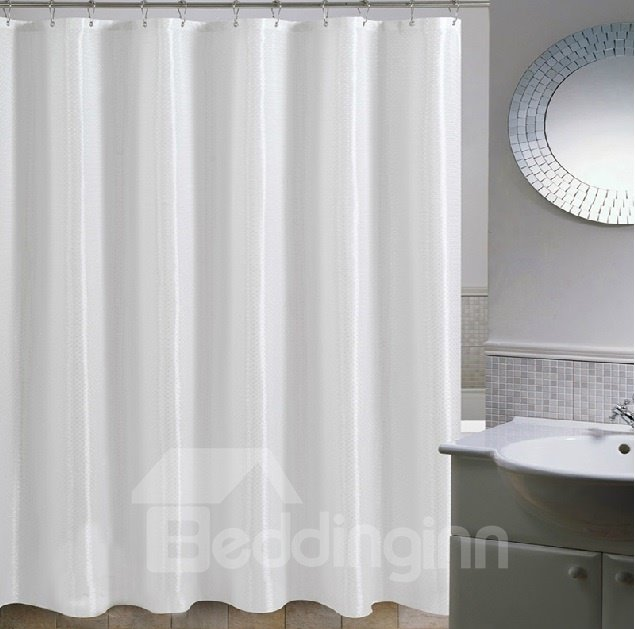 High Quality White Concise Design Shower Curtain