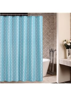 New Arrival Elegant White Dots Printing Shower Curtain