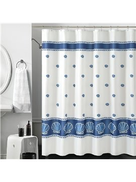New Arrival Elegant Scallop Printing Shower Curtain