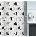 Hot Selling Cartoon Cute Fishes Printing Shower Curtain