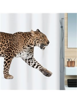 New Arrival Unique Attractive Leopard Printing Shower Curtain